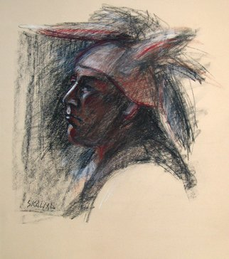 Juraj Skalina; Native 2, 2004, Original Pastel, 16 x 18 inches.