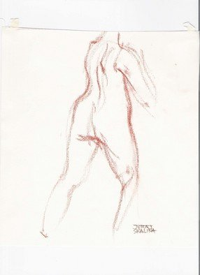 Juraj Skalina; Sketch 1, 2005, Original Drawing Charcoal, 7 x 9 inches.