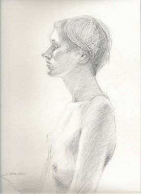 Juraj Skalina; Sketch 3, 2005, Original Drawing Charcoal, 9 x 12 inches.