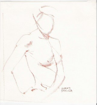 Juraj Skalina; Sketch 4, 2005, Original Drawing Charcoal, 7 x 9 inches.