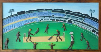 Jyothi Chinnapa Reddy; A Cricket Stadium, 2017, Original Sculpture Stone, 50 x 23 inches. Artwork description: 241 pebble stones...