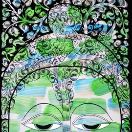 Kailasam Theerdham, , , Original Painting Acrylic, size_width{Tree_of_life_in_BUDDHA-1403007259.jpg} X 14 inches