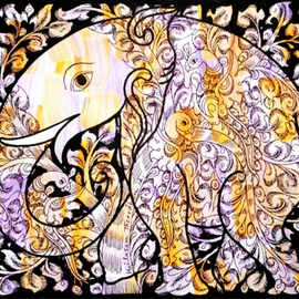 Kailasam Theerdham, , , Original Painting Acrylic, size_width{Tree_of_life_in_elephant-1403005813.jpg} X 12 inches