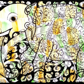 Kailasam Theerdham, , , Original Painting Acrylic, size_width{Tree_of_life_in_elephant-1403005917.jpg} X 10 inches