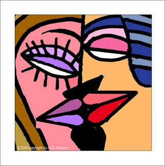 Asher Kalderon; KISS number 2, 2013, Original Digital Print, 30 x 30 cm. Artwork description: 241     One edition of digital giclee prints  in grotesque style signed by the artist. Look for background variations of the same theme.You can order different size of this print.  ...