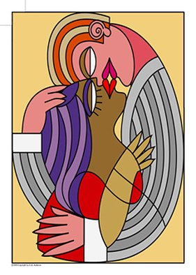 Asher Kalderon; KISS number 4, 2013, Original Printmaking Giclee, 50 x 70 cm. Artwork description: 241      KISS 4 ONE painting from edition of paintings digitally giclee printed in grotesque style and signed by the artist. ALL KISS number. . . paintings are created with somehow funny look about kisses, love, sex as presented in movies and TV stories. PASTEL soft and sensitive colors create sentimental ...