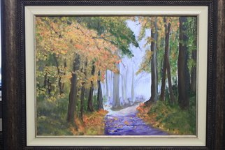 Willem Petrus Kallmeyer; AUTUMN IN THE FOREST, 2013, Original Painting Oil, 60 x 45 cm. Artwork description: 241  THE COLOURS OF AUTUMN IS AWE XPECTATIONSINSPIRING, THE PATH TAKES YOU INTO A WONDERLAND OF E ...