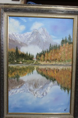Willem Petrus Kallmeyer; PEACEFULL REFLECTIONS, 2013, Original Painting Oil, 60 x 90 cm. Artwork description: 241   THE COLOURS OF AUTUMN WITH THE MOUNTAINS RFLECTIONS, IS SO PEACEFULL YOU JUST WANT TO STEP INTO THE PAINTING TO BE ABLE TO FEEL THE RELAXING PEACEFULLNESS.  ...