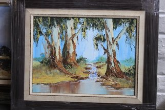 Willem Petrus Kallmeyer; SERENITY, 2012, Original Painting Oil, 30 x 20 cm. Artwork description: 241  THE PEACEFULLNES OF THE TREESS AND WATER IS SO FULLFILLIG ...