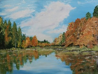 Willem Petrus Kallmeyer; Autumn Relections, 2013, Original Painting Oil, 60 x 45 cm. Artwork description: 241    THE COLOURS OF AUTUMN WITH THE RFLECTIONS, in the water creates it, s own ambiance of pure bliss. ...