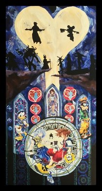 Charlie Laquidara; Dive To The Heart, 2014, Original Painting Acrylic, 12 x 36 inches. Artwork description: 241  Original Acrylic on Canvas Kingdom Hearts Fan Art    ...