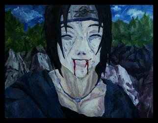 Charlie Laquidara; Last Smile, 2014, Original Painting Oil, 24 x 12 inches. Artwork description: 241      Original Oil on CanvasItachi Naruto Fanart        ...
