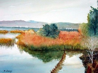 Ragai Karas; Early Fall, 2008, Original Watercolor, 15 x 21 inches. Artwork description: 241  Landscape, Early fall i Vermont ...