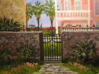 Karen Burnette Garner; Beyond The Gate, 2010, Original Painting Acrylic, 12 x 16 inches.