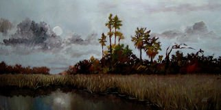 Karen Burnette Garner; Full Moon, 2009, Original Painting Acrylic, 24 x 12 inches. Artwork description: 241   Commissions are accepted for custom works through Treasure Nest Art Gallery, Mount Pleasant, SC843- 216- 1235...