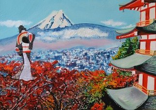 Katarina Radenkovic; Japan, 2015, Original Painting Oil, 70 x 50 cm. Artwork description: 241  I spent some time in Japan, my impressions of this beautiful culture and  people are impressive. . . ...