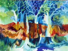 Artist: Diane Kastensmith Bradbury's, title: Seasons 1, 1973, Watercolor
