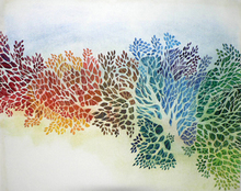Artist: Diane Kastensmith Bradbury's, title: Seasons 12, 2000, Watercolor