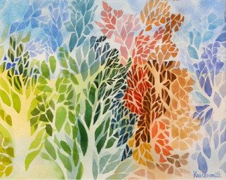 Diane Kastensmith Bradbury, Seasons 15, 2011, Original Watercolor, size_width{Seasons_15-1326167259.jpg} X 14 inches
