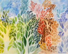 Artist: Diane Kastensmith Bradbury's, title: Seasons 15, 2011, Watercolor