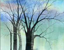 Artist: Diane Kastensmith Bradbury's, title: Spring Trees 27, 2000, Mixed Media