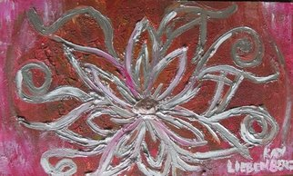 Kay Liebenberg; Silver Flower 01, 2015, Original Painting Acrylic, 39.9 x 24 cm. Artwork description: 241  A decorative piece to place in your home. ...