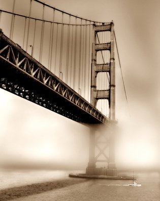 Kara Burke-Mullane; Golden Gate Bridge, 2007, Original Photography Color, 11 x 14 inches.