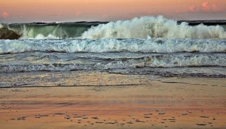 Kristine Caroppoli; Evening Waves, 2011, Original Photography Color, 8 x 10 inches. Artwork description: 241  Caroppoli, digital photograph, photo, photography, image, picture, seascape, Hatteras, Outer Banks, OBX, imagery, calm, relaxing, elegant, contrast, scape, sky, clouds, atmosphere, beauty, dramatic, drama, Avon, beach, vacation, sandbar, island, tide, waves, sunset, reflections, colors, sand, water, evening, hypnotizing, refreshing, rejuvenating, relax, pleasure, peace, nature, spiritual     ...