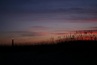 Kristine Caroppoli; Hatteras Lighthouse Sunset, 2010, Original Photography Color, 8 x 10 inches. Artwork description: 241  Caroppoli, digital photograph, photo, photography, image, picture, Hatteras Island, OBX, Outer Banks, Avon, North Carolina, ocean, Hatteras, Lighthouse, landscape, sunset, vivid, historical, panorama, scenery, environment, vista, blissful, wonderful, pleasurable, natural, wholesome, spiritual, mystical, comfort, sooth, protect, lightkeeper, maritime, nautical, watcher, seashore, National Seashore, boats, vessels, shoals, sand ...
