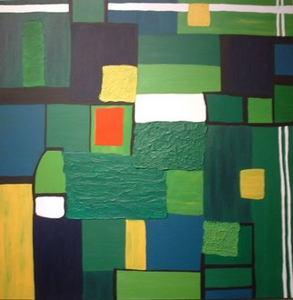 Katie Gunther; Green Fury, 2004, Original Painting Acrylic, 40 x 40 inches.