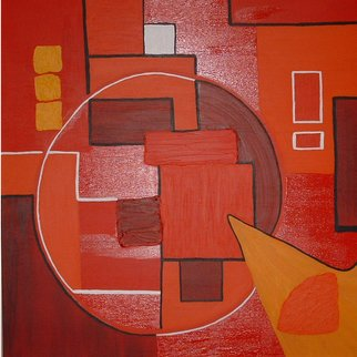 Katie Gunther; Red Circle, 2004, Original Painting Acrylic, 36 x 36 inches.