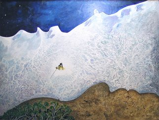 Steve Kiene; Mother Earth Father Sky, 2004, Original Painting Acrylic, 30 x 24 inches. Artwork description: 241 Two profiles of faces ( Mother Earth on the bottom, Father Sky on the top) That feeling on a powder day when you' re one with nature ...