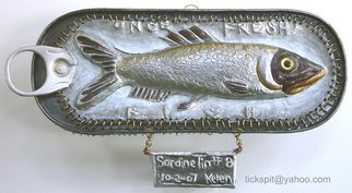 L. Kelen; SardineTin Number 8, 2007, Original Metalsmith, 7 x 3 inches. Artwork description: 241 This is the last of them for a while. . .there' ll be more.I got a little involved with the back side. . you can see at artings: