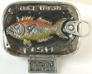 L. Kelen; Sardine Tin Number3, 2007, Original Metalsmith, 5 x 4 inches. Artwork description: 241  Once Fresh Fish. . .Sardine Tin Number 3. . . ....