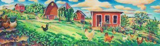 L. Kelen, 'Vernon Farm', 2007, original Pastel, 38 x 11  inches. Artwork description: 2703 caran d' ache neocolor II on mulberry paper. . . framed. . . .I' m finally getting it back!I' d forgotten what it looked like in person. . . been selling giclees, which I' m now out of.  Guess I should make some more now that I' ll have the original in ...