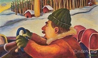 L. Kelen, 'winterdriver', 2005, original Painting Oil, 20 x 12  x 1 inches.