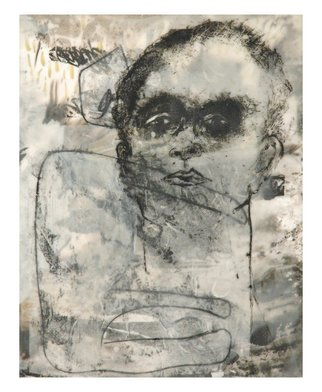 Tatana Kellner; Untitled 1, 2008, Original Mixed Media, 16 x 20 inches. Artwork description: 241  transfer drawing, encaustic collage, mounted on wood panel ...