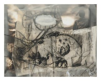 Tatana Kellner; Untitled 5, 2008, Original Mixed Media, 20 x 16 inches. Artwork description: 241  transfer drawing, collage, encaustic, mounted on wood ...