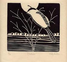 Artist: Kelly Parker's, title: Chickadee, 2003, Printmaking Other