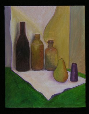 Kelly Parker; Green Table, 2005, Original Painting Oil, 16 x 20 inches. Artwork description: 241 still life in oil.  shipping to US residents is included in the price. ...