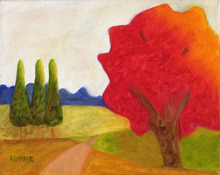 Artist: Kelly Parker's, title: Green trees, 2007, Painting Oil