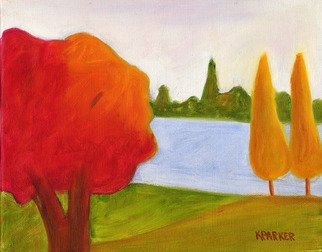 Kelly Parker, Yellow trees, 2007, Original Painting Oil, size_width{Yellow_trees-1194920343.jpg} X 8 x  inches