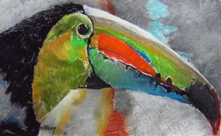 Ken Hillberry; One Toucan, 2012, Original Pastel, 31 x 22 inches. Artwork description: 241  endangered species series                        ...