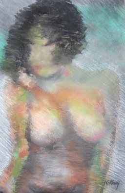 Ken Hillberry; Femmeamber, 2013, Original Pastel, 20 x 28 inches. Artwork description: 241  figurative study                          ...