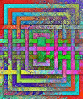 Ken Slabach; Weave, 2012, Original Digital Art, 20 x 24 inches. Artwork description: 241  Abstract computer rendered textures and shapes woven into a three dimensional shape. Signed and numbered by the artist. Includes Certificate of Authenticity.         ...