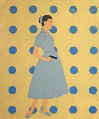 Kenn Zeromski, Blue Dots, 2011, Original Painting Oil,    inches