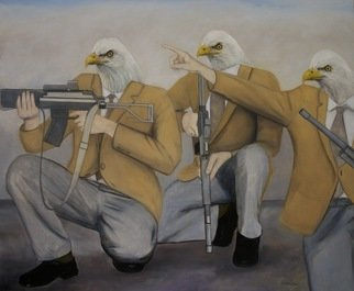 Kenn Zeromski, Eagles, 2009, Original Painting Oil,    inches