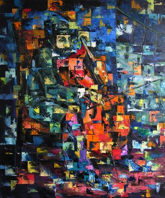 Keren Gorzhaltsan; Cellist, 2005, Original Painting Oil, 76 x 91 cm. Artwork description: 241  oil on canvas ...