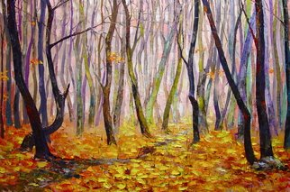 Keren Gorzhaltsan; Late Fall, 2016, Original Painting Oil, 92 x 61 inches. Artwork description: 241   oil on canvas size 92cm X 61cm  ...