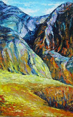 Keren Gorzhaltsan; Mountains, 2006, Original Painting Oil, 92 x 152 cm. Artwork description: 241  oil on canvas ...